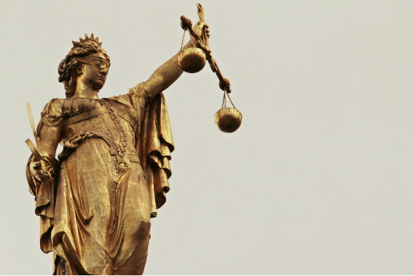 scales of justice symbolizing a legal victory